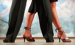Dance shoes, pants, ladies heels, dress