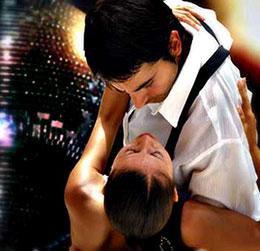 Dancers doing the tango.