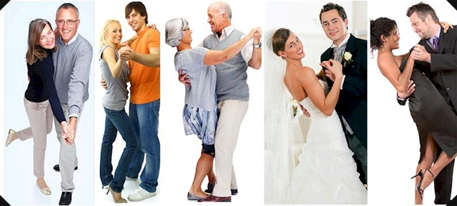 Dancing couples, salsa, swing, wedding, ballroom, latin