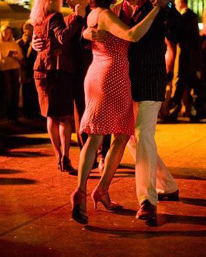 Latin dancing argentine tango